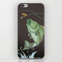 Bass Jumping At Night iPhone Skin