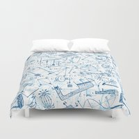 school Duvet Covers featuring School chemical #4 by Juliana RW