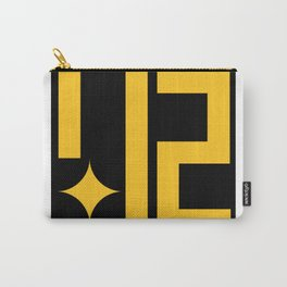 Pittsburgh 412 Steeler Gold on Black Carry-All Pouch