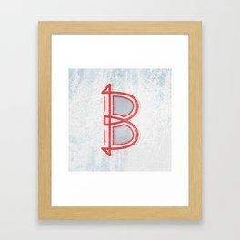 letter B - Alphabet Framed Art Print