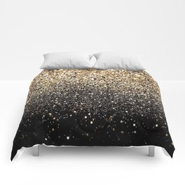 Black & Gold Sparkle Comforters