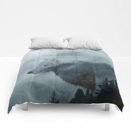 Wilderness Wolf & Poem Comforters