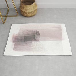 Blush Pink Minimalist Abstract Painting Rug