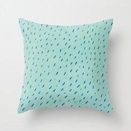 blue marks pattern Throw Pillow