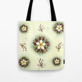 Plumeria Mandala Tote Bag