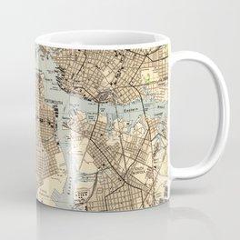 Vintage Norfolk & Portsmouth Virginia Map (1944) Coffee Mug