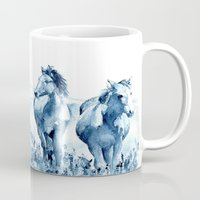horses Mugs featuring horses by Michele Petri