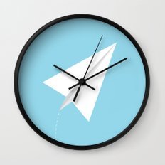 #38 Paperplane Wall Clock