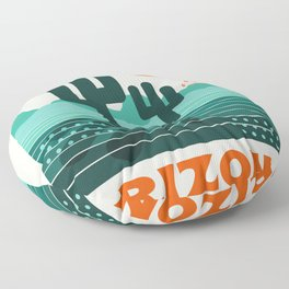 Arizona - retro 70s 1970's sun desert southwest usa throwback minimal design Floor Pillow
