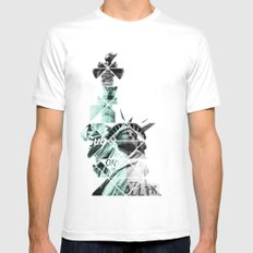 Liberty Mens Fitted Tee White LARGE