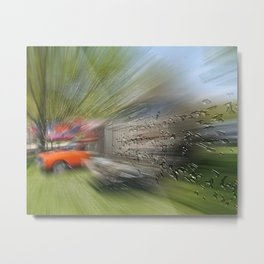 Zooming drops Metal Print