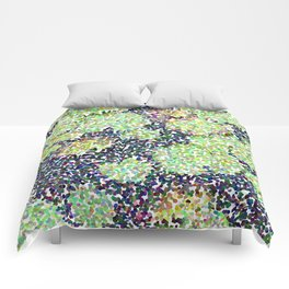 Pointilized Lily Pads Comforters