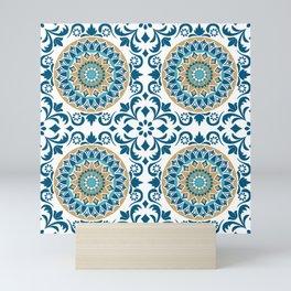 Bluish Variety Pattern Mini Art Print