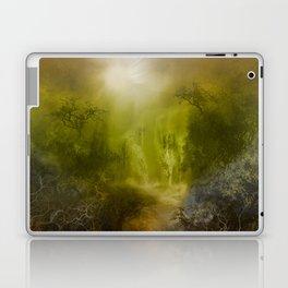 gold forest landscape Laptop & iPad Skin
