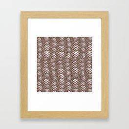 Brown Snake Skin Pattern Framed Art Print