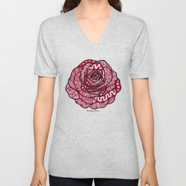 Rose red Unisex V-Neck