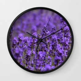 the smell of lavender -c- Wall Clock
