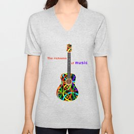 The richness of music Unisex V-Neck