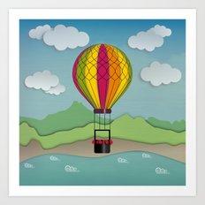 Balloon Aeronautics Sea & Sky Art Print