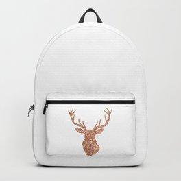 Sparkling reindeer blush gold Backpack