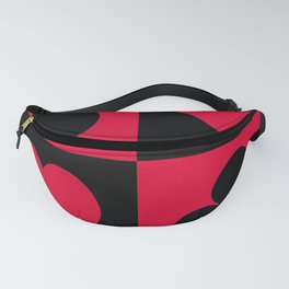 red and black Fanny Pack
