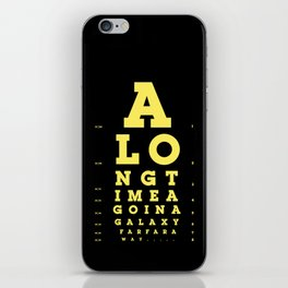 Jed Eye Chart iPhone Skin