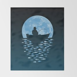 Hooked by Moonlight Throw Blanket