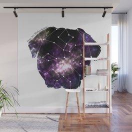 Galaxy Pug Cute Constellation Wall Mural