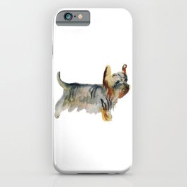 Watercolor image of dog iPhone Case