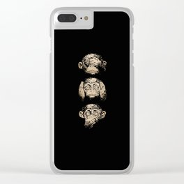 3 wise monkeys Clear iPhone Case