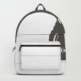 New Hampshire is Home - Charcoal on White Wood Backpack
