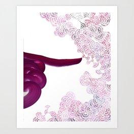 Breath Portrait Magents Art Print