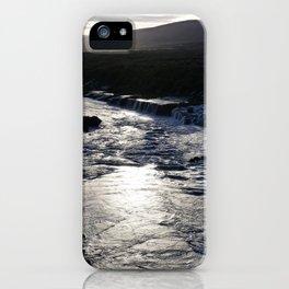Waterfall at sundown iPhone Case