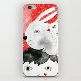 Bunnies on my head iPhone Skin