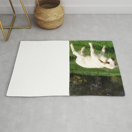 A Newborn Lamb Finding Its Feet Rug