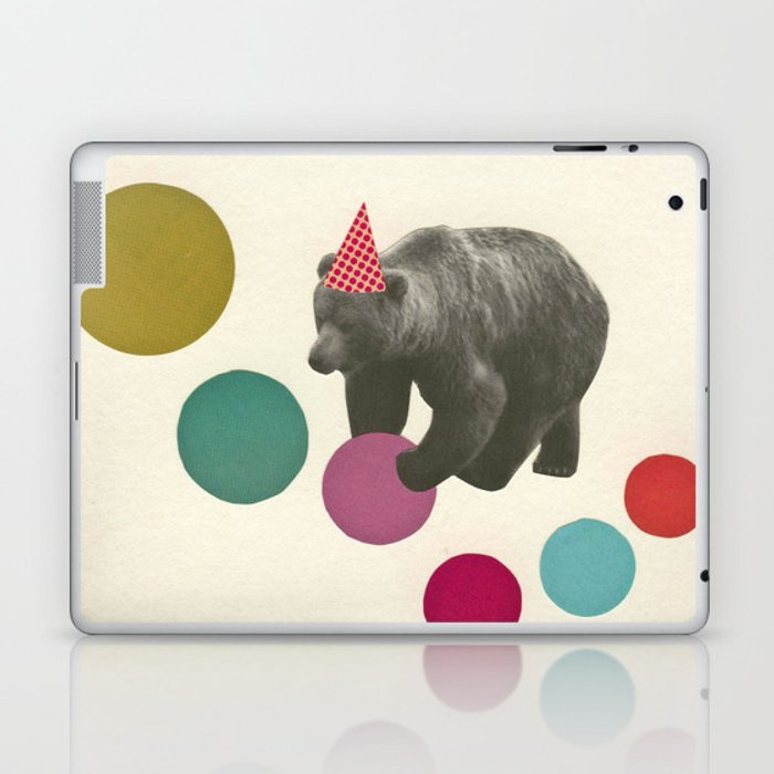 Birthday Bear Laptop & iPad Skin