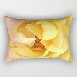 Summer Rose in Pink and Yellow Rectangular Pillow