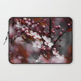Pink Apple Tree Blossoms Photography Laptop Sleeve