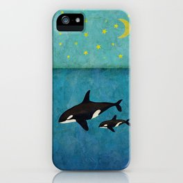 Whales at night  iPhone Case