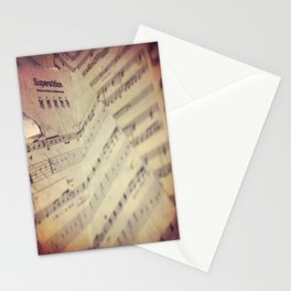 Music on the Wall Stationery Cards