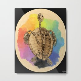 Breaking Through the Shell Metal Print