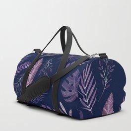 Purple Leaves of Eden Duffle Bag