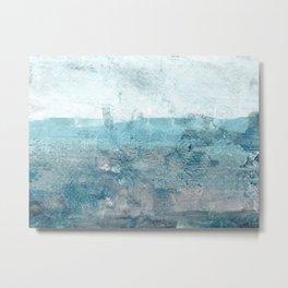 Moody Minimalist Abstract Seascape Painting Metal Print