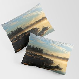 Trestle in mist at sunrise Pillow Sham