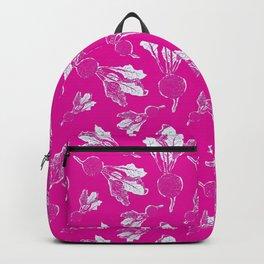 Feel the Beet in Magenta Rhubarb Stamp Backpack