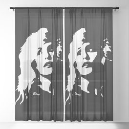 GIFTS OF BLONDS HAVING MORE FUN THEN BRUNETTES FROM MONOFACES IN 2021 Sheer Curtain