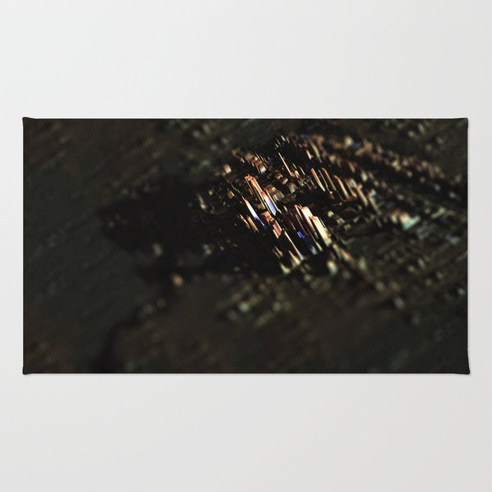 Abstract cityscape aerial view technology background Rug