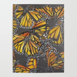 Traveling Monarch Poster