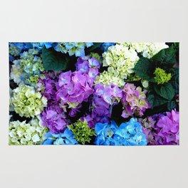 Colorful Flowering Bush Rug