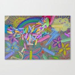 Sidewalk Chalk Canvas Print